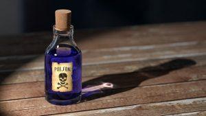 bouteille de poison